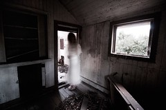 Her Bedroom (SkylerBrown) Tags: woman abandoned window girl dark scary shadows darkness fear ghost gothic haunted creepy spooky horror insanity nightmare disturbing