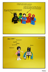 Relooking  chez les Super Hros (Kloou.) Tags: lego cristina spiderman superman batman mode diorama relooking superhros