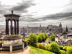 View from Calton Hill, Edinburgh (photphobia) Tags: uk buildings landscape scotland edinburgh princesstreet dramaticsky oldtown caltonhill oldwivestale