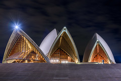 Shells beside the Harbour (scottcove) Tags: light house night opera sydney burst