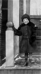Clara as a child (AR_the old guy) Tags: vintage photo portrait girl frontporch scanned toronto 1927 repaired bw monochrome elements8