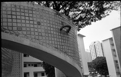 Dakota Crescent - Singapore (waex99) Tags: 2016 400iso dec epson iv kodak kiev singapore trix analog dakota film jupiter v500 crescent building housing empty relocation redevelopment ukraine urss ussr soviet 35f28 50f2 rangefinder telemetre