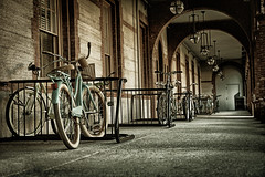 Bikes at Flagler College (le cabri) Tags: bikes bicycles staugustine flagler college florida old vintage