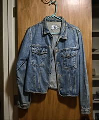 The Jean Jacket (Packing...So Excited!!!) Tags: odc fashion jeanjacket blue denium calvinklein hdr brandname