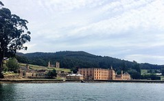 View from the sea. Port Arthur.
