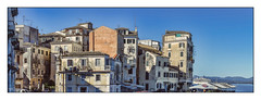 Corfu Old Town (Kevin, from Manchester) Tags: architecture hdr building canon1855mm ship sky kevinwalker street greece corfu oldtown panorama panoramic photoborder