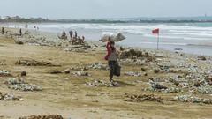 BALI DISASTER IN PROGRESS (robdu91) Tags: bali robinveret pollution trash kuta ecology chaos people beach legian
