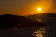 Harmony. (engin yalçı) Tags: sunset orange silhouette sun hills sea reflection harmony turkiye turkey türkiye bodrum gümüşlük muğla mediterranian akdeniz
