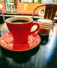 As London rolls by (JP McCarthy) Tags: coffee tea diner london cafe restaurant cuppa mug red doubledeckerbus