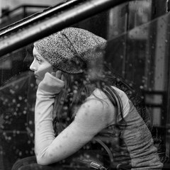 Boredom / L'Ennui (H - - J) Tags: jung jungian psychological psychology psychic dreams symbol symbolic image dreamlike girl bored boredom rain gray grey youth city toronto romwalk romwalkyorkville subjective objective shadow depression gloomy yorkville noiretblanc