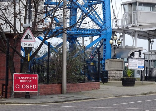 Transporter Bridge Closed, Middlesbrough