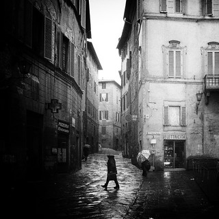 Lluvia en Siena