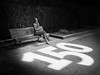 150 anos de Valle-Inclán (Adrián Nieto Rodríguez) Tags: valle inclán escritor santiago de compostela 1866 galicia a coruña españa alameda blanco y negro black white 150 years estatua statue banco bench