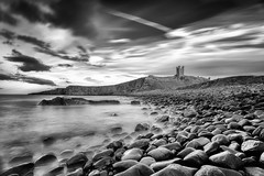 Dunstanburgh Castle Death Rocks (Geoff Moore UK) Tags: red rocks sea wet slippy dangerous tide castle old tidal acient history northumberland landscape outdoors adventure