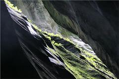 a slot of light (Bernergieu) Tags: switzerland aareschlucht diagonal mountains light rocks