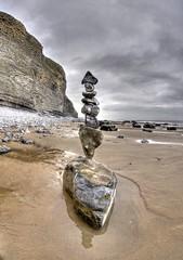 In Reverse (pauldunn52) Tags: stone pebble sculpture art beach cliffs sand balancing quartz limestone temple bay glamorgan heritage coast wales