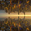 Double Gold (Señor Codo) Tags: orange chicago downtown skyline highrises searstower illinois partlycloudy