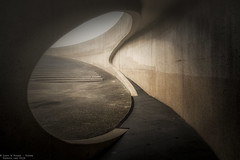 Show me the way (Dennis van Dijk) Tags: bridge brug tunnel light darkness shadow canon travel moody fog concrete jungle stairs wanderer urban exploration belgium archtecture beauty love