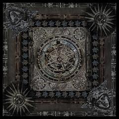 Scrf design - dark astrolabe (Kotomi_) Tags: scarf design graphic collage degital