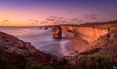 The Apostles at Sunset (mark.iommi) Tags: theapostles twelveapostles thegreatoceanroad australia seascape shoreline sunset longexposure