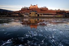 (sp)Icy Castle (mattrkeyworth) Tags: würzburg ilce7r2 sonya7rii germany rivermain festungmarienberg castle sunrise red orange icy warmth batis18mm batis18 batis2818