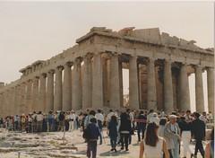 The Parthenon on the Acropolis Athens (redchillihead) Tags: warren smart greece turkey 1989 the parthenon acropolis athens 1980s oe kiwi traveller