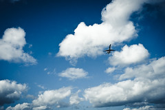 all the way to the promised land (Housemill) Tags: blue sky june juni clouds airplane lumix sweden himmel panasonic sverige flygplan moln 2015 lx5 axamo