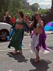 WEF2015 (Bricheno) Tags: woman festival scotland women glasgow bra bellydancer curvy escocia parade exotic wef cleavage mardigras westend szkocja suraya bellydancers schottland scozia 2015 cosse westendfestival  esccia   bricheno scoia wef2015