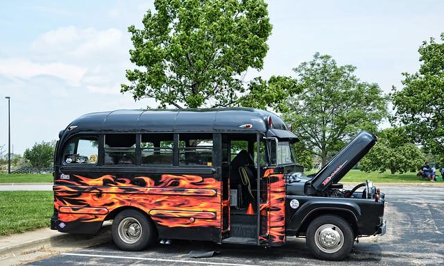 black classic ford illinois flames champaign f350 shortbus hotrodpowertour2015 1959fordf350shortbus fordf350shortbus