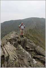 No going back now..... (stu.bloggs..Dont do Sundays) Tags: summer mountain mountains june landscape landscapes drops dangerous rocks phil hiking lakedistrict rocky valley edge cumbria fells elevation lakeland challenge stridingedge sheer helvellyn rockyoutcrops 3118ft