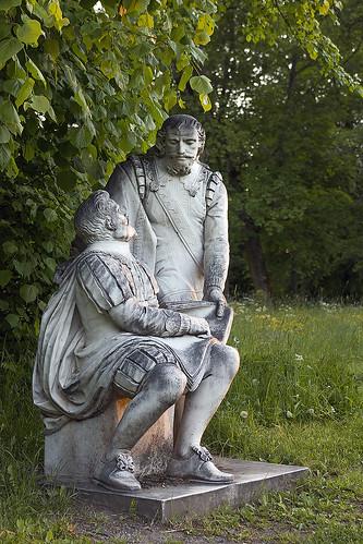 Staty vid Svartsjö slott