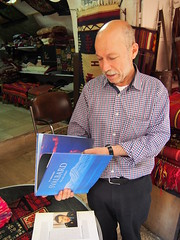 Met this Palestinean shopkeeper in Hebron who had Norwegian friends who gave him this book!