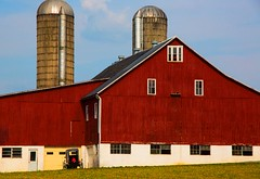 red barn and silo (Mysophie08) Tags: blurred infocus lancasterpa highquality mediumquality pennslyania