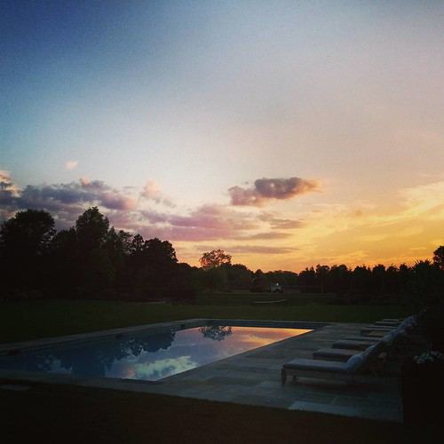 #hamptons #sunset by the #pool #bluesteel