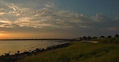 OLYMPUS DIGITAL CAMERA (Robby Armentano) Tags: sunset cloud beach heron grass marina island log long connecticut clinton grain shoreline ct olympus madison shore sound pro marsh 28 osprey seagul em1 12140 lightzone
