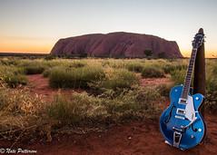 Gretsch guitar at sunsrise Uluru (Nate_Patterson) Tags: 5420t sunrise uluru outback australia nt landscape gretsch guitar