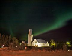Selfosskirkja (skolavellir12) Tags: church island iceland kirkja selfoss aurora borialis norðurljós selfosskirkja