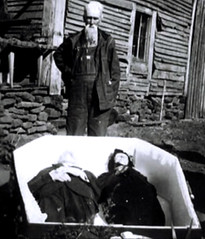 In Repose (Midnight Believer) Tags: coffin death funeral corpse wake repose unknown retro rural residence outdoors casket