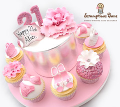 Big Cake Little Cakes : Shoes & Bags 21st (Scrumptious Buns (Samantha)) Tags: wpbclc bclc bigcakeslittlecakes birthdaycake norwich norfolk novelty wpcelebrationcakes 21st silverleaf stilettos handbags cupcakes toppers largepeony ediblesequins