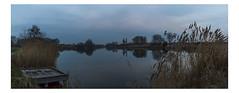 apex_park_dusk_panorama-271216 (Peadingle) Tags: apex park highbridge somerset lake refelction dusck panorama