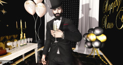 Happy New Year !!!   (Gotan Project ♫) (Nathan Abbot) Tags: creativeartnetwork virtualart virtual digital firestorm secondlife sl game screen screenshot capture french scenery newyear gimp deadwool tmp swallow mandala ikon argrace pixelware pageant dh tune music blogger photographer art studio