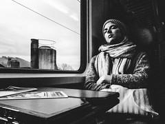 golden slumber (matthias hämmerly) Tags: train sleep zuerich zürich candid public transport street photography strassenfotografie girl woman black white ricoh grd 2