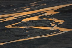 Rivers of Gold (Andrew G Robertson) Tags: baffin island auyuittuq auyuittuqnationalpark abstract gold river golden canada nunavut