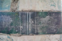 Uncovered (Jane Inman Stormer) Tags: old paint restore derelict historic green wall petina cracked crackle abstract weathered antique plaster