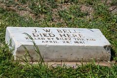 Where Deputy Bell Died (Serendigity) Tags: lincoln wildwest marker historic museum unitedstates usa town newmexico