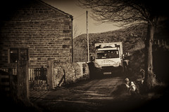 Any time Any place Any where ...... (Missy Jussy) Tags: tesco van delivery foodshopping sepia house mollie rupert lane bethanylane newhey rochdale landscape england northwest canon