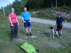 We met Marius Samdahl and his friend walking up from the parking lot. They were also climbing the mountain that day!
