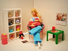Relax (Deejay Bafaroy) Tags: barbie mattel fashionistas lagirl madetomove mtm doll puppe blonde blond portrait porträt pillow kissen turquoise türkis lightblue hellblau diorama 16 scale playscale miniature miniatur ikea huset shelf regal table tisch chair stuhl