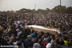 Funeral of Yaqub Musa Abu al-Qian, Negev, Israel, 24.01.2017 (Activestills) Tags: ummalhiran unrecognisedvillage negev naqab israel policeviolence death martyr shahid funeral bedouins topimages faizaburmeleh