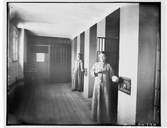 Female inmates standing in front of their cells, Carleton County Gaol / Prisonnières debout devant leur cellule, Carleton County Gaol (prison du comté de Carleton) (BiblioArchives / LibraryArchives) Tags: lac bac libraryandarchivescanada bibliothèqueetarchivescanada canada williamtopley women femmes inmates prisonnières cells cellule carletoncountygaol prisonducomtédecarleton february1895 février1895 topleystudio studiotopley ottawa ontario williamjamestopley